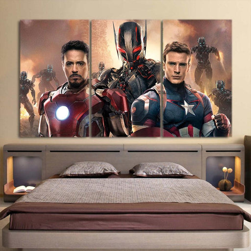 The Avengers Iron Man Captain America Portrait 3Pcs Wall Art