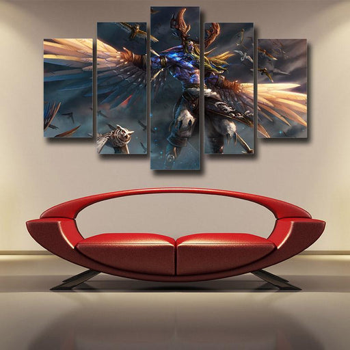 World of Warcraft Malfurion Night Elf Druid Dope 5pc Wall Art Canvas