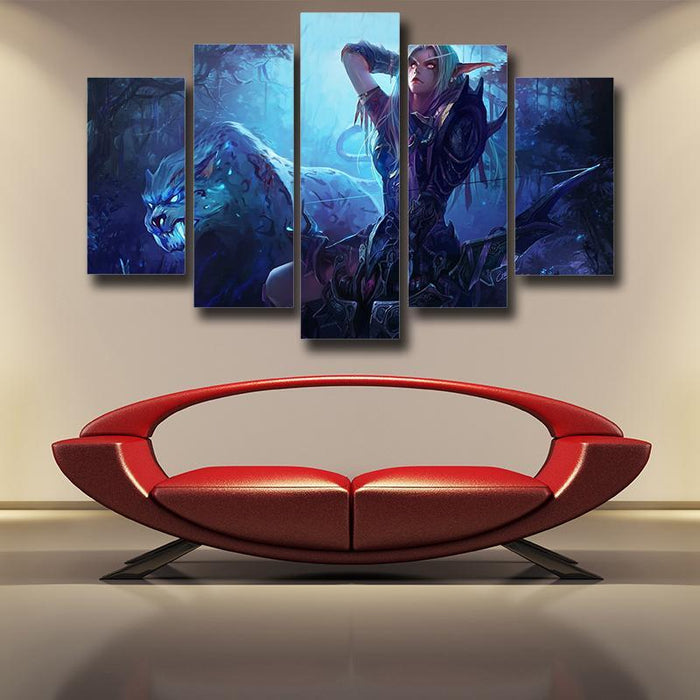 World of Warcraft Sylvanas The Forsaken Queen Art 5pc Wall Art Prints