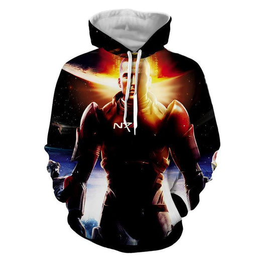 Mass Effect Commander Shepard Soldier Galatic War Hoodie