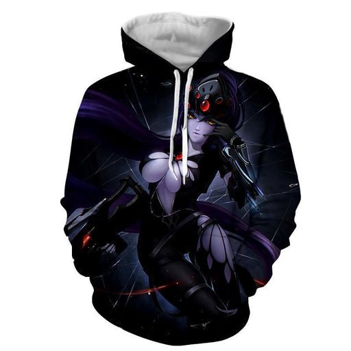 Overwatch Widowmaker Sexy Gunner Anime Style Gaming Hoodie
