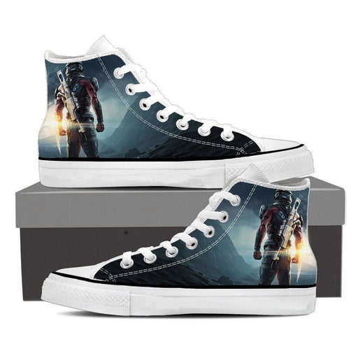 Mass Effect Captain Assault Rifle Converse Sneaker Shoes - Superheroes Gears