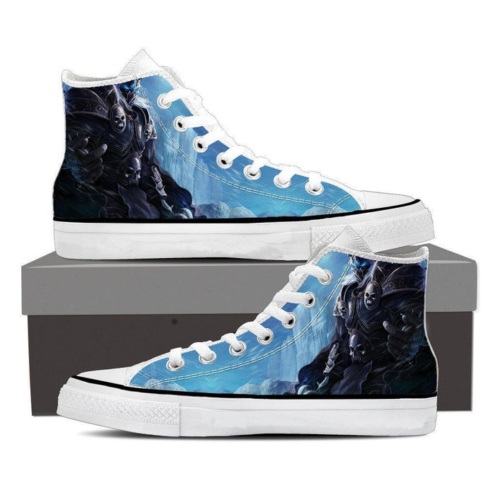 World of Warcraft Arthas Lich King Frozen Throne Sneaker Converse Shoes