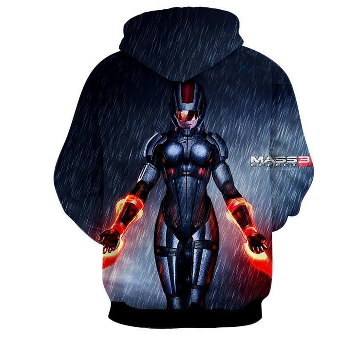 Mass Effect Captain Shepard Dual Laser Blades Cool Hoodie