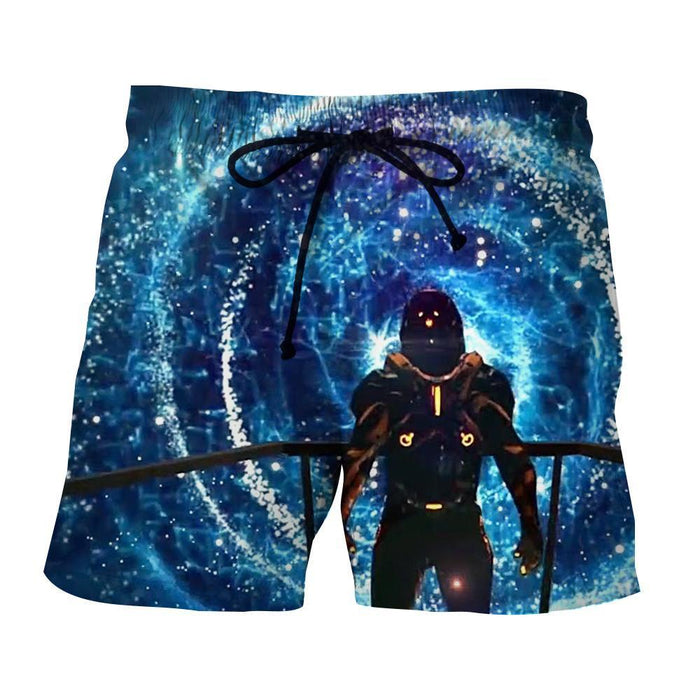 Mass Effect Captain Shepard Space Wormhole Vibrant Shorts