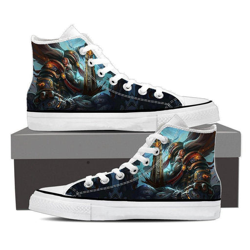 World of Warcraft Kurdran Drawf Warrior Art Gaming Sneaker Converse Shoes