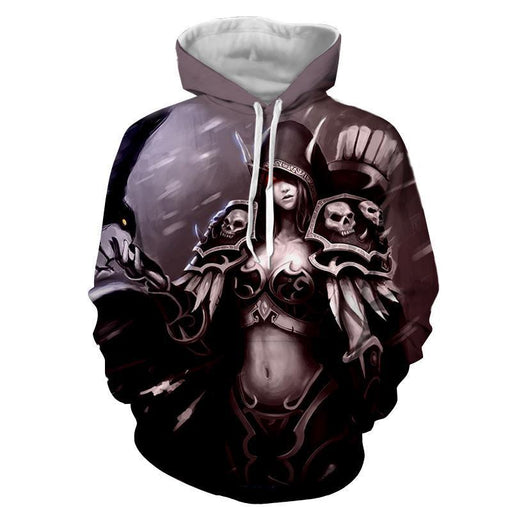 World of Warcraft Sylvanas Elf Archer Artwork Print Hoodie