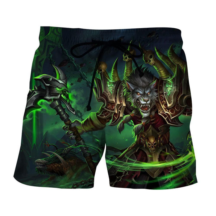 World of Warcraft Worgen Warlock Fanart Cool Game Shorts