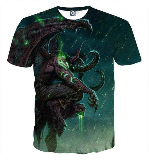 World of Warcraft Illidan The Betrayer Hunter Game T-Shirt