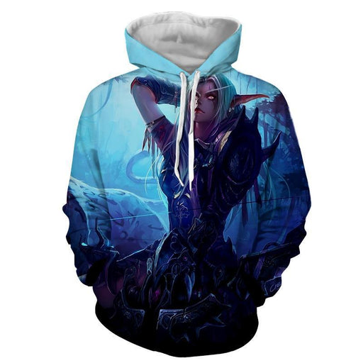 World of Warcraft Sylvanas The Forsaken Queen Art Hoodie