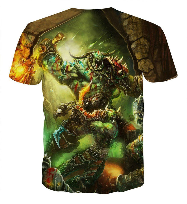 World of Warcraft Orcs Warrior Fight War Fan Art T-Shirt