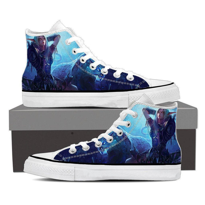 World of Warcraft Sylvanas Forsaken Queen Art Sneaker Converse Shoes
