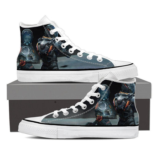 Mass Effect Cerberus Army Fan Art Converse Sneaker Shoes