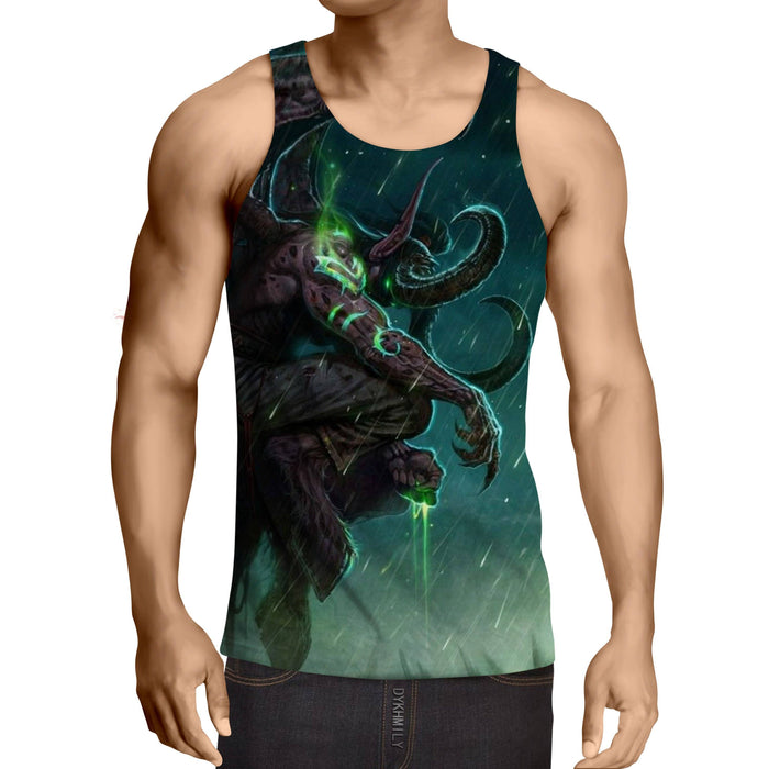 World of Warcraft Illidan The Betrayer Hunter Game Tank Top