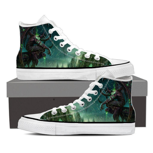 World of Warcraft Illidan The Betrayer Hunter Game Sneaker Converse Shoes