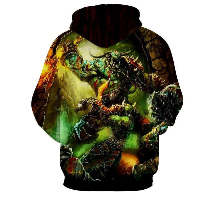 World of Warcraft Orcs Warrior Fight War Fan Art Hoodie