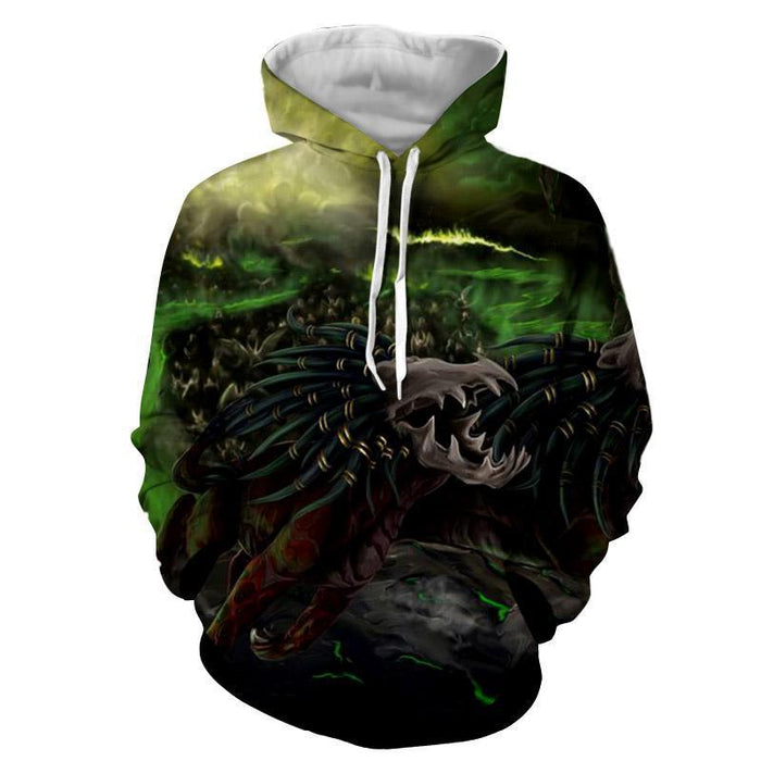 World of Warcraft Felhound Monster Creature Artwork Hoodie