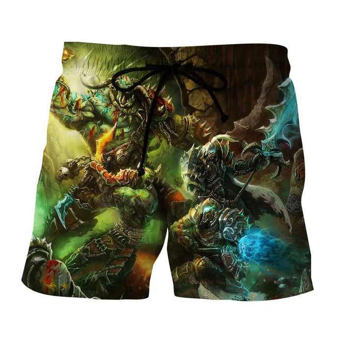 World of Warcraft Orcs Warrior Fight War Fan Art Shorts