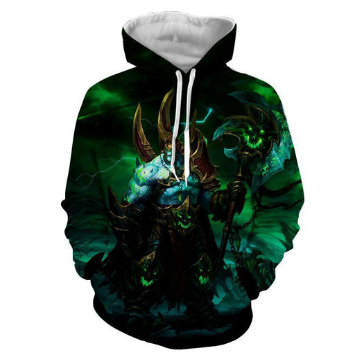 World of Warcraft Legion Fan Art Fighter Gaming Style Hoodie