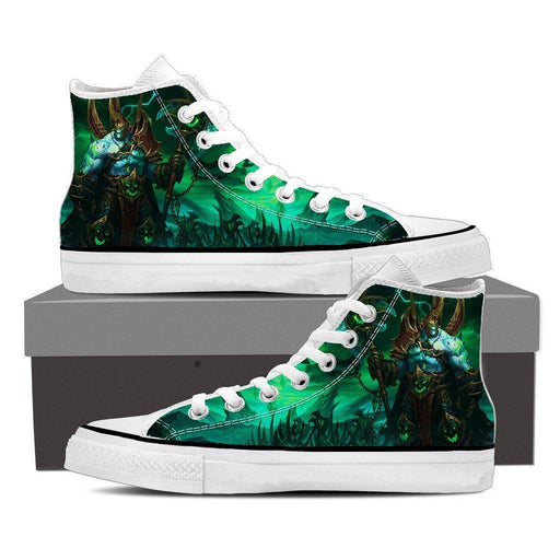 World of Warcraft Legion Fan Art Fighter Gaming Sneaker Converse Shoes