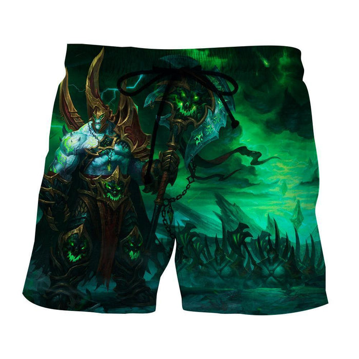 World of Warcraft Legion Fan Art Fighter Gaming Style Shorts