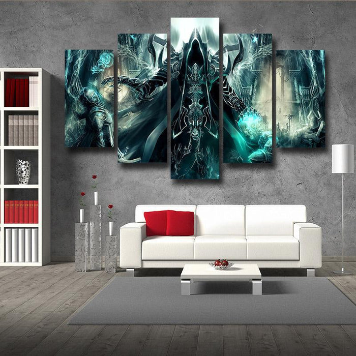 Diablo 3 Reaper of Soul Mathael Death Angel Cool 5pc Wall Art Prints - Superheroes Gears