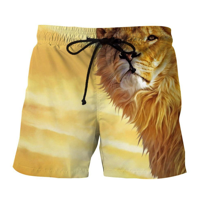 Lion Cartoon Sketch Impressive Design Cool Winter Shorts