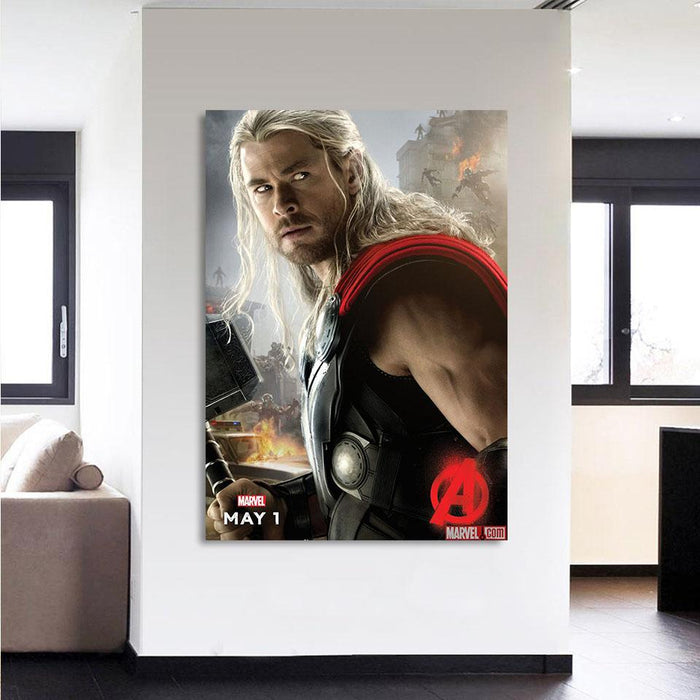 Marvel The Avengers Thor Portrait Unique 1pcs Canvas Print - Superheroes Gears