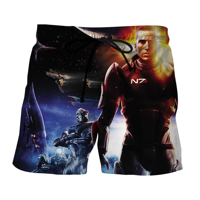 Mass Effect Commander Shepard Soldier Galatic War Shorts