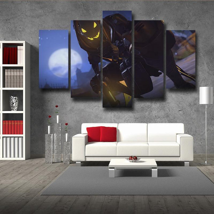 Overwatch Reaper Gunner Hero 5pc Wall Art Decor Canvas Prints