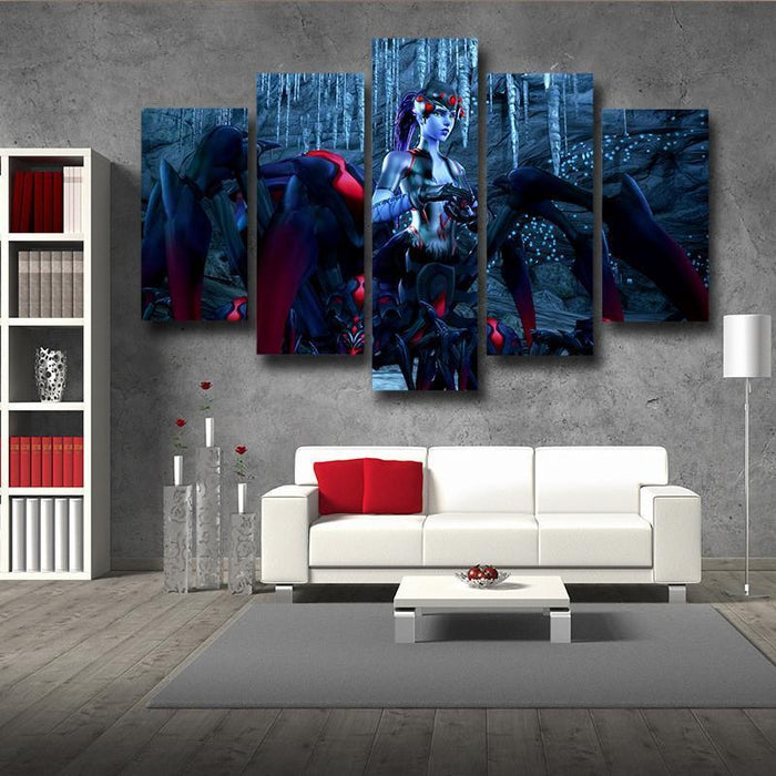 Overwatch Widowmaker Spider Queen 5pc Wall Art Canvas Prints