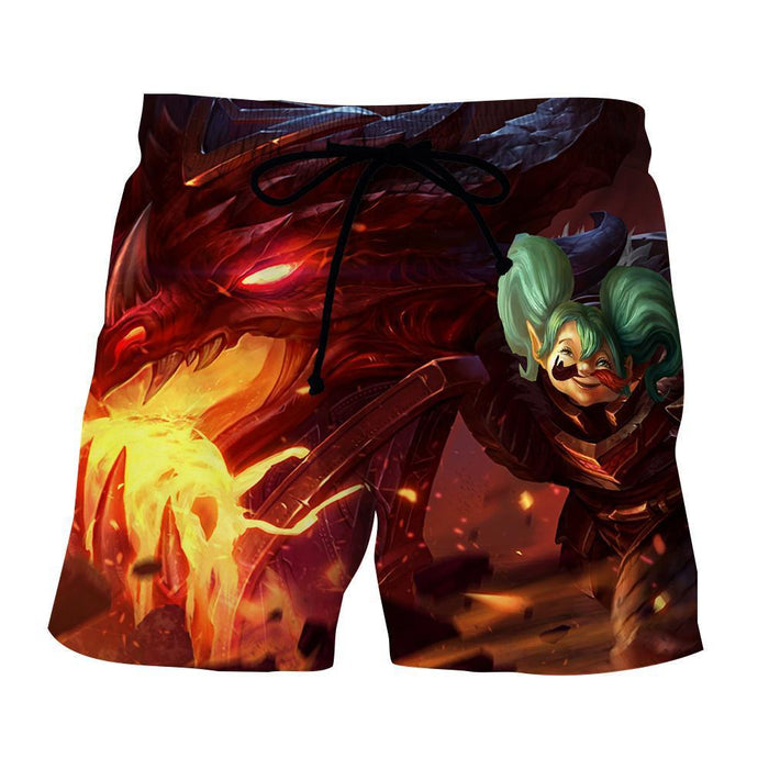 World of Warcraft Cataclysm Deathwing Dragon Gaming Shorts