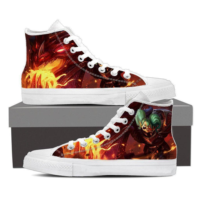 World of Warcraft Cataclysm Deathwing Dragon Sneakers Converse Shoes