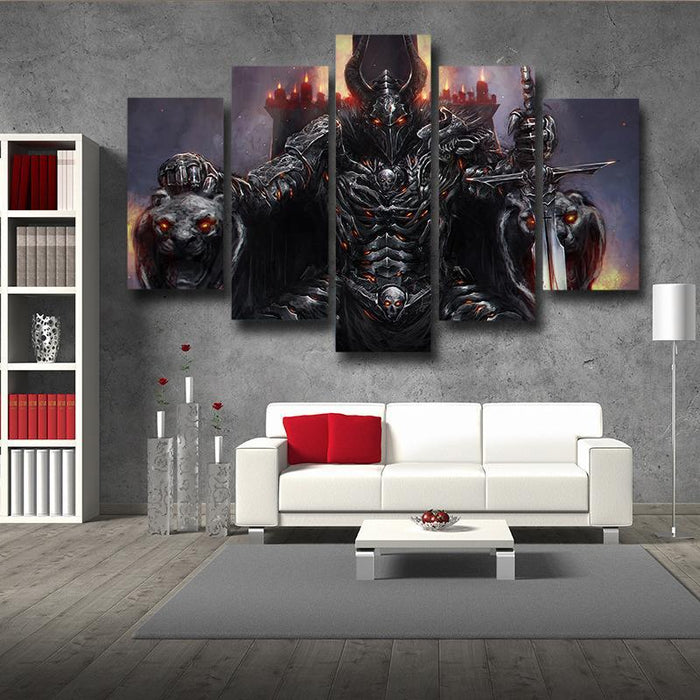 World of Warcraft Death Knight Evil Theme Gaming 5pc Wall Art Prints