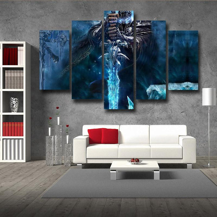 World of Warcraft Frozen Throne Arthas King Dope 5pc Wall Art Prints