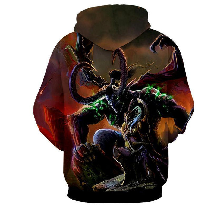 World of Warcraft Illidan Stormrage Demon Form Game Hoodie
