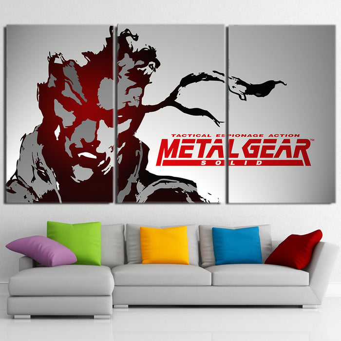 Metal Gear Tactical Espionage Artistic 3pcs Canvas Prints