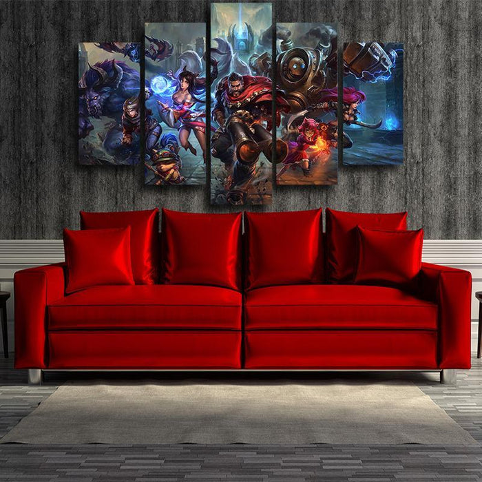 League of Legends Champions Battle Heroes Awesome 5pc Wall Art - Superheroes Gears