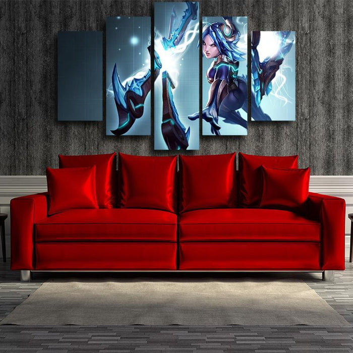 League of Legends Irelia Blade Power Girl Fighter Design 5pc Wall Art