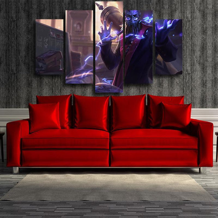 League of Legends Professor Ryze Champion Cool 5pc Canvas Printed