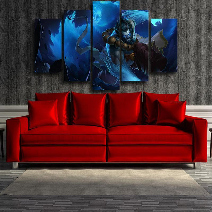League of Legends Vigorous Udyr Bear Stance Edition 5pc Canvas Decor