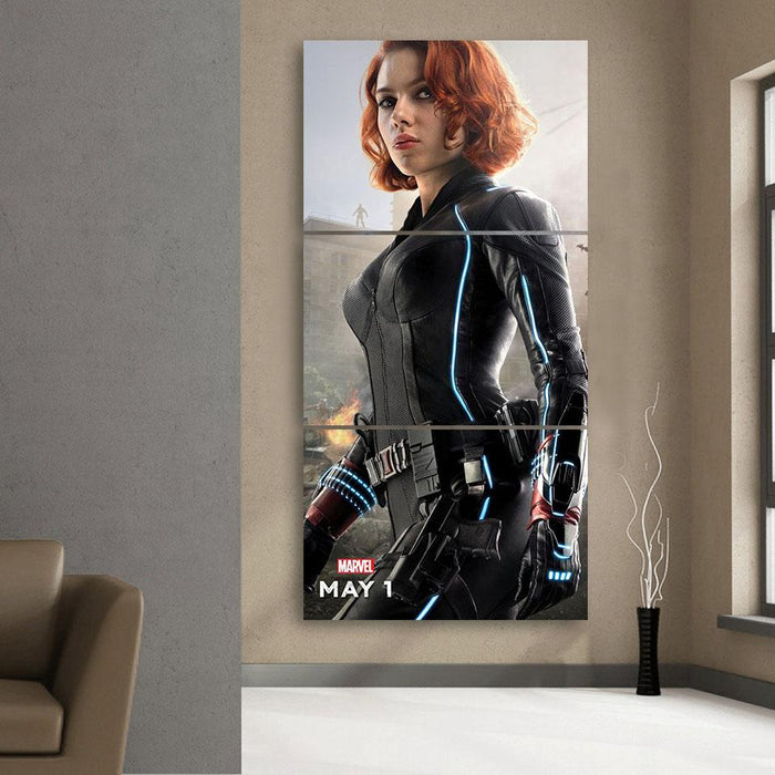 Marvel The Avengers Sexy Black Widow Dope 3pcs Canvas Print