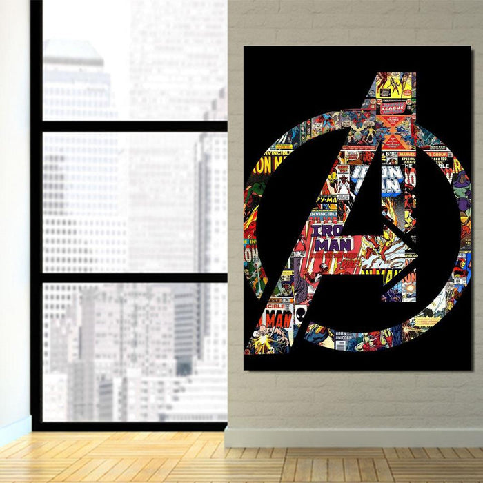 Marvel The Avengers Symbol Iron Man Unique Style 1pc Wall