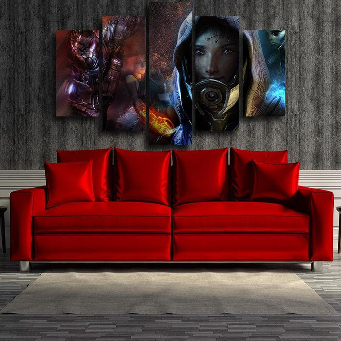 Mass Effect Tali Zorah Mask Portrait Theme 5pc Wall Art Poster Prints