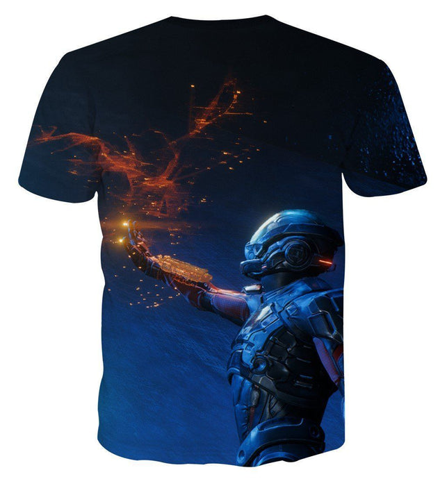 Mass Effect Tali Zorah Sexy Mask Soldier Game Theme T-Shirt