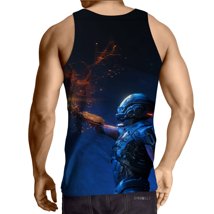 Mass Effect Tali Zorah Sexy Soldier Game Summer Tank Top