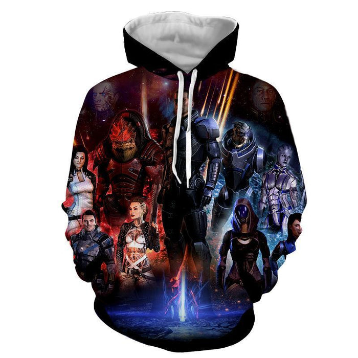 Mass Effect Galatic War Characters Full Print Game Hoodie