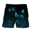 Dangerous Supernatural Black Wolf With Blue Mark Boardshorts