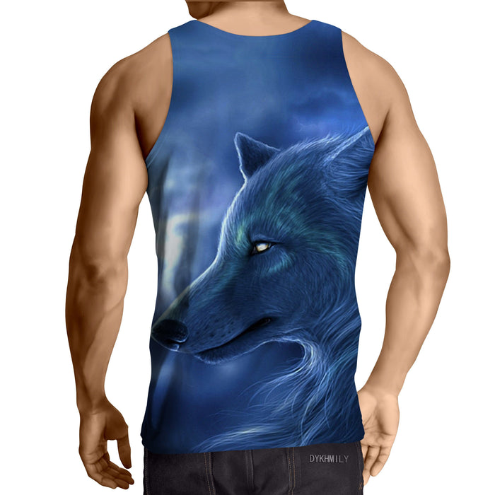 Fantasy Wolf Animal Lover Style Summer Design Tank Top - Superheroes Gears
