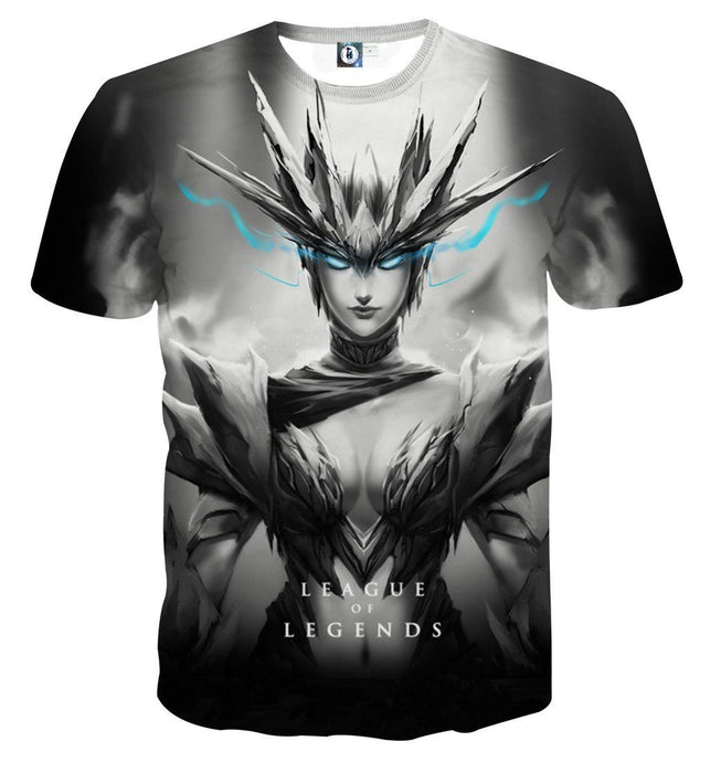 League of Legends Shyvana Female Fighter Full Printed T-shirt